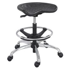 <strong>Safco Products Company</strong> SitStar Stool with Footring and Casters