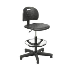 <strong>Safco Products Company</strong> Height Adjustable Drafting Chair with Footring