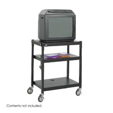 Steel Adjustable Height Cart in Black