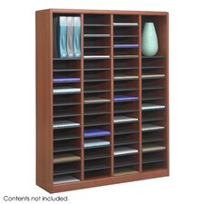"<strong>Safco Products Company</strong> E-Z Store Wood 52 1/4"" Literature Organizer"