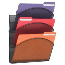 <strong>Safco Products Company</strong> Onyx Steel Triple Wall Pocket, Letter