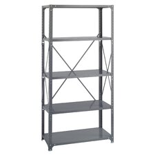 Commercial Steel Shelving in Dark Gray