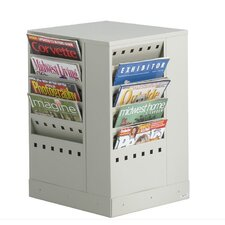 20-Pocket Steel Rotary Magazine Rack