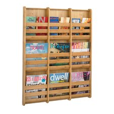 <strong>Safco Products Company</strong> Bamboo Wall Magazine Rack