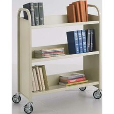 <strong>Safco Products Company</strong> Single-Sided Book Cart