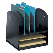 <strong>Safco Products Company</strong> Combination Desk Rack 6 Upright/ 2 Horizontal