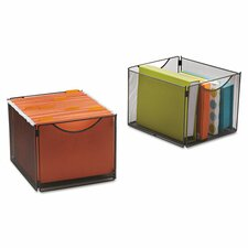 <strong>Safco Products Company</strong> Onyx Mesh Cube Bins (Set of 2)