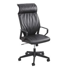 <strong>Safco Products Company</strong> Priya Leather Executive Chair with Cushioned Pillow