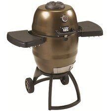"<strong>Broil King</strong> 41"" Keg Kamado Charcoal Grill with Large Wheels"