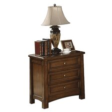 Craftsman Home 3 Drawer Nightstand