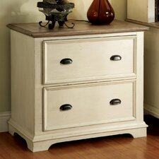 Coventry Two Tone Lateral File Cabinet in Weathered Driftwood and Dover White
