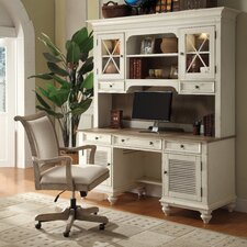 <strong>Riverside Furniture</strong> Coventry 2 T1 Shutter Door Credenza with Hutch