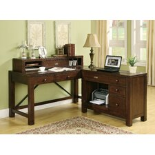 <strong>Riverside Furniture</strong> Castlewood L-Shape Desk Office Suite