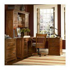 "<strong>Riverside Furniture</strong> Seville Square Workstation 42.75"" H x 68.5"" W Desk Hutch"