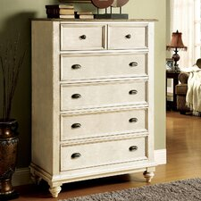 Coventry Two Tone 5 Drawer Chest