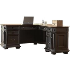 <strong>Riverside Furniture</strong> Allegro L-Shaped Executive Desk and Return