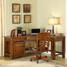 Craftsman Home L-Shape Desk Office Suite