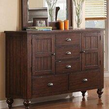 Castlewood 5 Drawer Combo Dresser