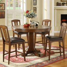 <strong>Riverside Furniture</strong> Craftsman Home Piece Convert-A-Height Dining Set