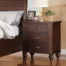 Castlewood 3 Drawer Nightstand
