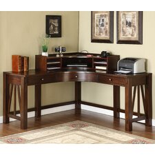 <strong>Riverside Furniture</strong> Castlewood Corner Desk with Hutch