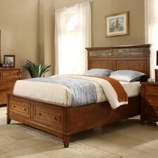 Craftsman Home Storage Panel Bed