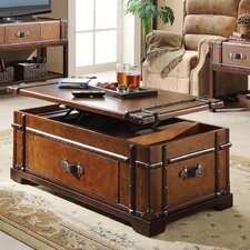 Latitudes Steamer Trunk Coffee Table with Lift Top