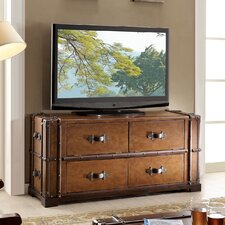 "<strong>Riverside Furniture</strong> Latitudes Steamer Trunk 58"" TV Stand"