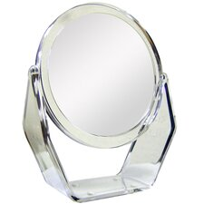 Dual Sided Vanity Mirror with Clear Acrylic Base