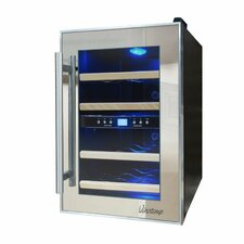 12 Bottle Dual Zone Thermoelectric Wine Refrigerator