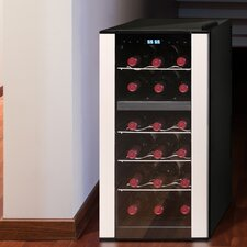 18-Bottle Dual-Zone Thermoelectric Wine Cooler