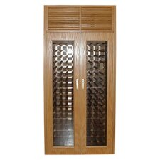 440 Two Door Oak Wine Cooler Cabinet with Front Exhaust