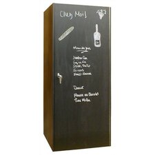 440 Chalkboard Oak Wine Cooler Cabinet in Dark Brown