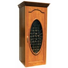 250 Napoleon Oak Wine Cooler Cabinet with Oval Beveled Glass