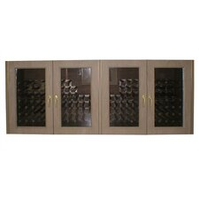 Oak Wine Cooler Credenza with Glass Doors