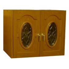 Napoleon 2 Door Oak Wine Cooler Credenza