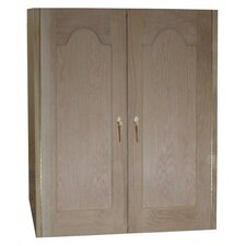 <strong>Vinotemp</strong> 2 Door Oak Wine Cooler Cabinet with Furniture Trim