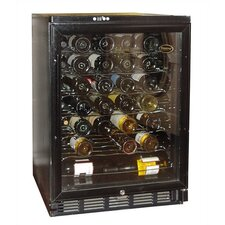Metal Wine Cooler with Black Matte Finish and Front Venting