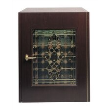 100 Single Beveled Glass Door Wine Cooler Cabinet