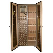 <strong>Vinotemp</strong> 440 Two Door Oak Wine & Cigar Cooler Cabinet