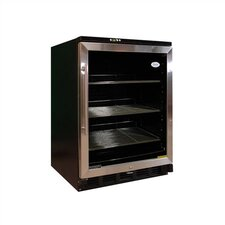 Beverage Cooler in Black with Stainless Steel Trim