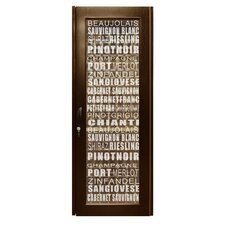 Wine Varietal 250-Model Etched Glass Wine Cabinet