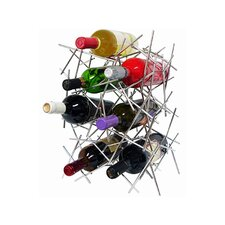 Epicureanist 7 Bottle Abstract Tabletop Wine Rack