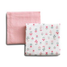 Rosette Blossom Swaddle Blanket (Set of 2)