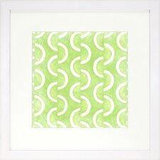 Graphic Pattern Lime Artwork