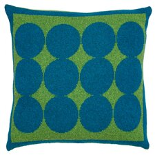 Graphic Dot Lapis & Lime Pillow