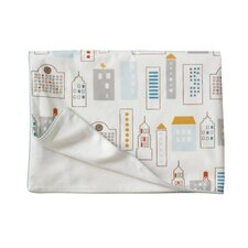 Skyline Light Blue Velour Stroller Blanket