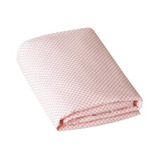 Check Blossom Fitted Crib Sheet