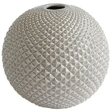 Diamond Cut Globe Vase