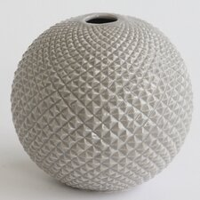 <strong>DwellStudio</strong> Diamond Cut Globe Vase